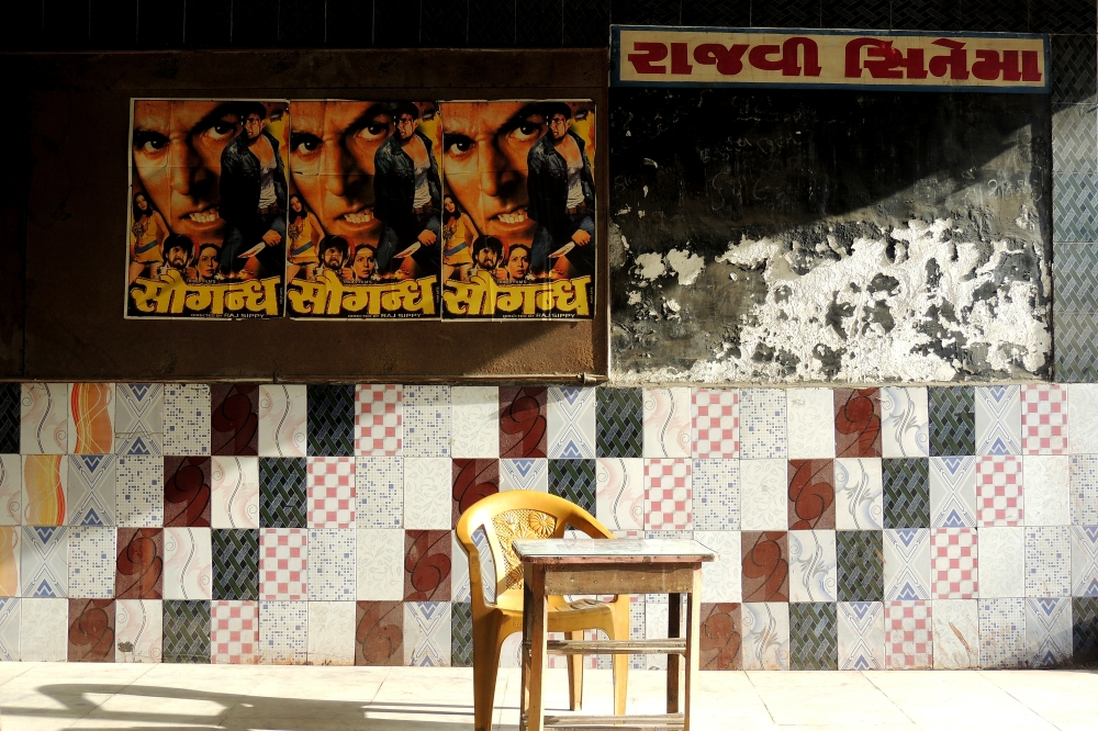 Movie theatre for factory workers (Ahmedabad, India)