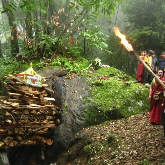 Funeral of a lama, Sikkim