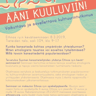 Poster for the Association of Finnish Ethnologists
