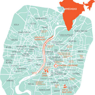 Ahmedabad resettlement sites (2015)