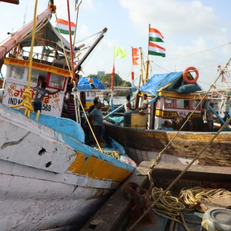 Fishing boats in Versova